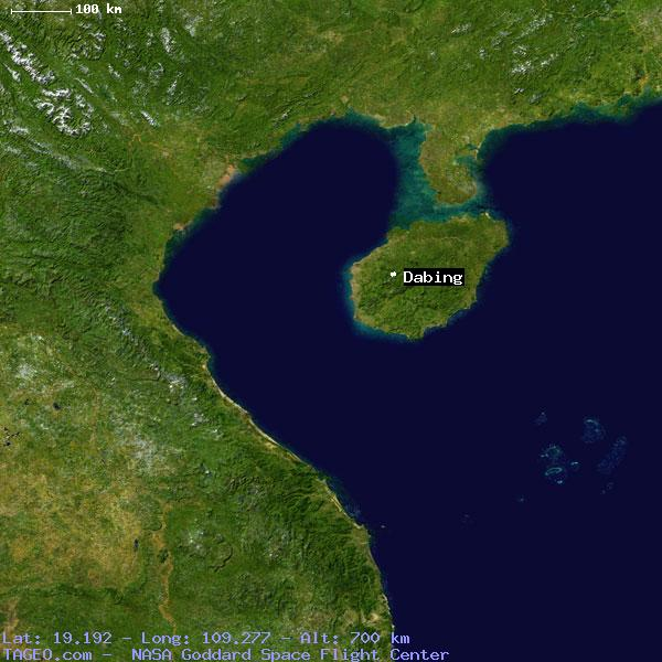 dabing hainan china geography population map cities coordinates