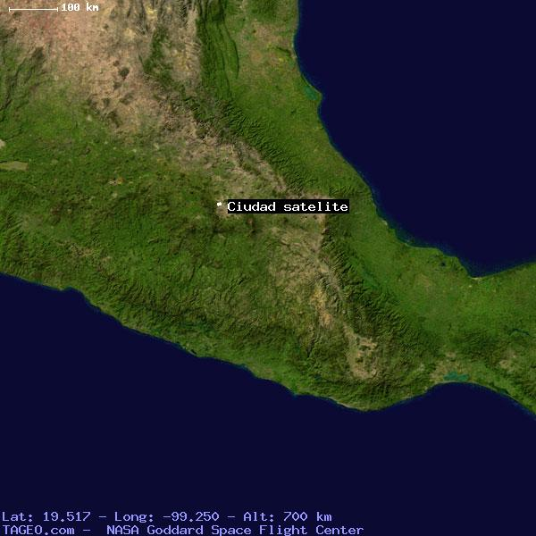 CIUDAD SATELITE MEXICO MEXICO Geography Population Map Cities - Satellite mexico map