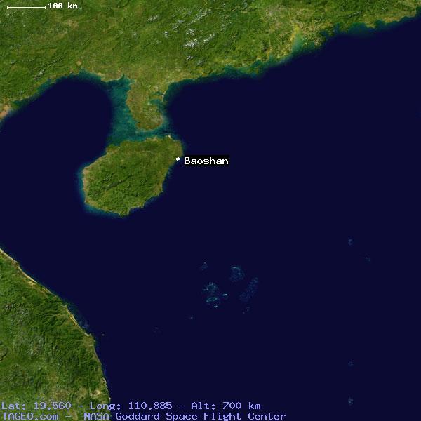 BAOSHAN HAINAN CHINA Geography Population Map Cities Coordinates - Baoshan map