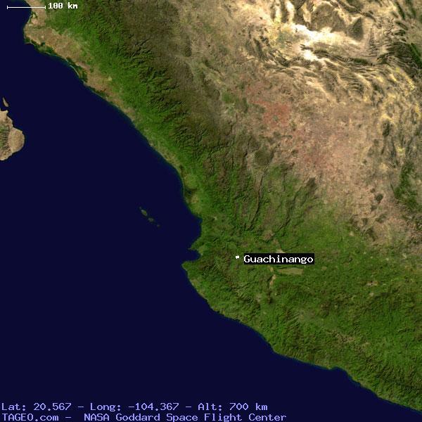 guachinango jalisco mexico geography population map cities coordinates location tageocom