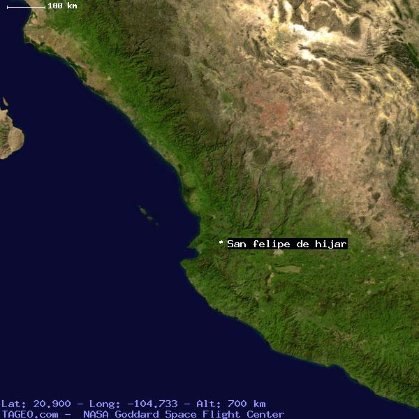 San Felipe De Hijar Jalisco Mexico Geography Population Map Cities Coordinates Location Tageo Com