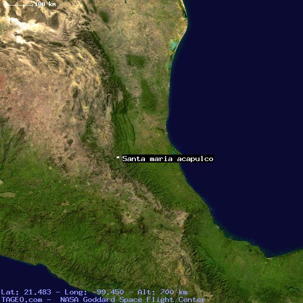 SANTA MARIA ACAPULCO SAN LUIS POTOSI MEXICO Geography ...