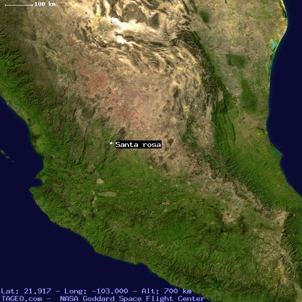 santa rosa mexico map Santa Rosa Zacatecas Mexico Geography Population Map Cities