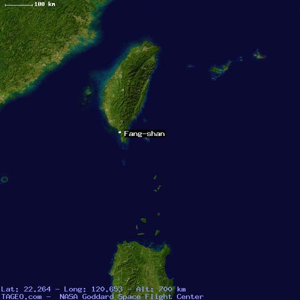 FANG SHAN TAI WAN TAIWAN Geography Population Map Cities