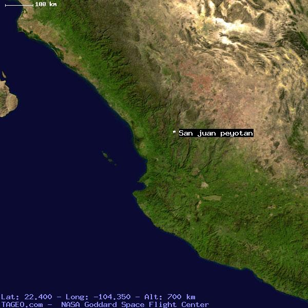 SAN JUAN PEYOTAN NAYARIT MEXICO Geography Population Map Cities - Map us laatitude san juan