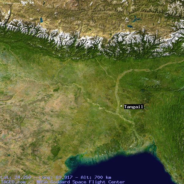 TANGAIL BANGLADESH GENERAL BANGLADESH Geography Population Map - Tangail map