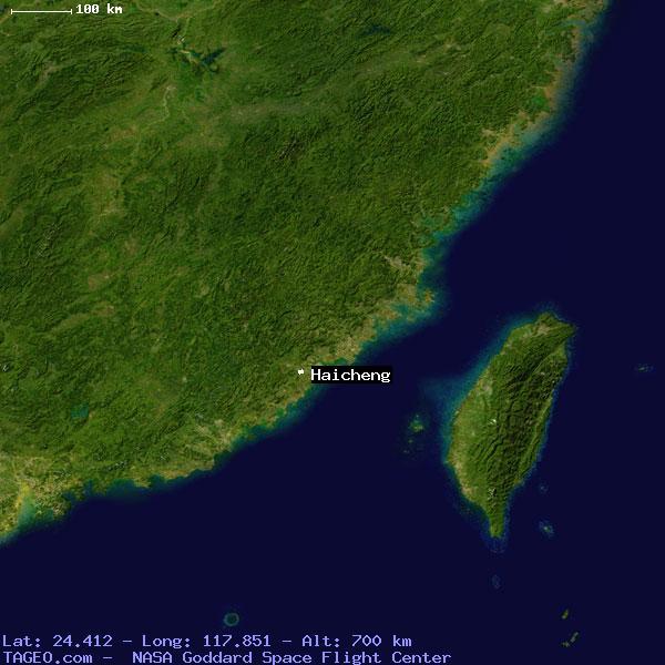 HAICHENG FUJIAN CHINA Geography Population Map Cities Coordinates - Haicheng map