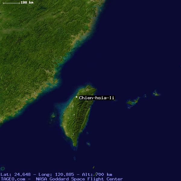 CHIEN HSIA LI TAI WAN TAIWAN Geography Population Map Cities