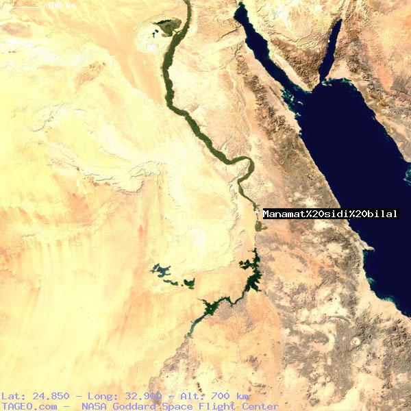 MANAMAT SIDI BILAL AL BAHR AL AHMAR EGYPT Geography Population Map ...