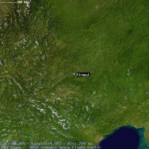 XINGYI GUIZHOU CHINA Geography Population Map Cities Coordinates - Xingyi map