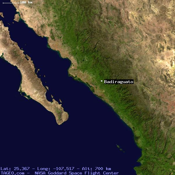 Badiraguato Sinaloa Mexico Geography Population Map Cities