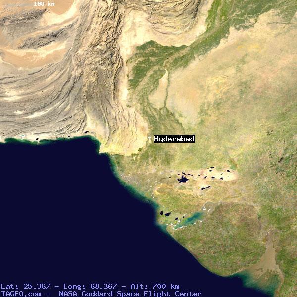 HYDERABAD SINDH PAKISTAN Geography Population Map cities coordinates