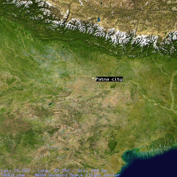 Patna In India Map.Patna City Bihar India Geography Population Map Cities Coordinates
