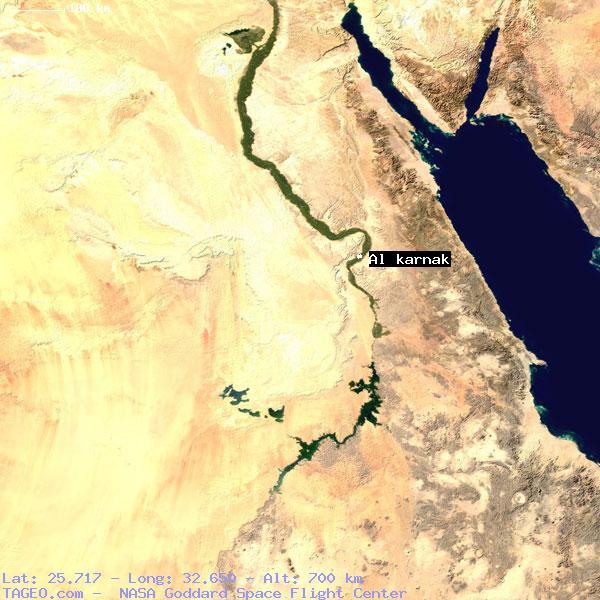 AL KARNAK QINA EGYPT Geography Population Map Cities Coordinates - Map of egypt karnak