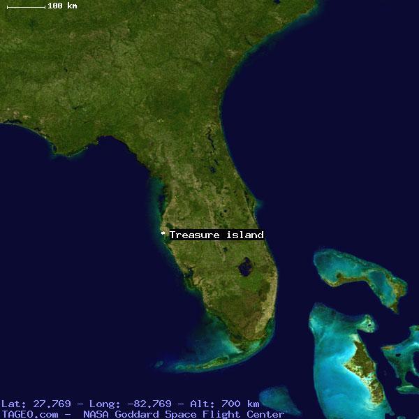 Treasure Island Florida United States Geography Population Map