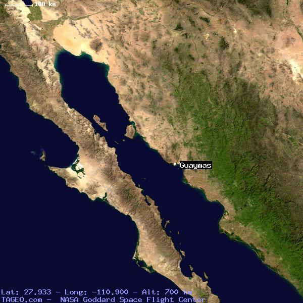 Guaymas Sonora Mexico Geography Population Map Cities Coordinates