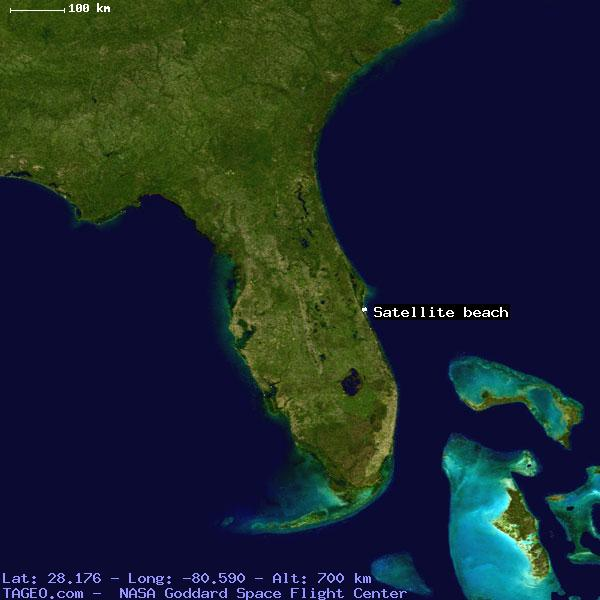Satellite Beach Florida United States Geography Population Map