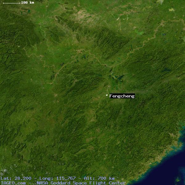 FENGCHENG JIANGXI CHINA Geography Population Map Cities - Fengcheng map