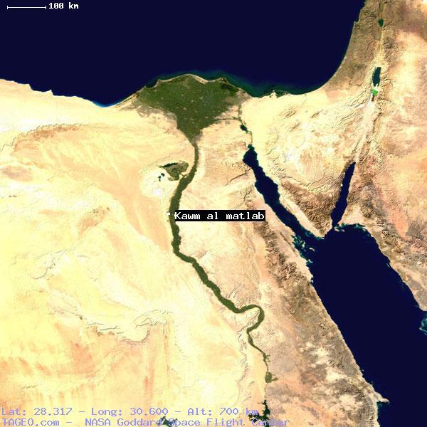 KAWM AL MATLAB AL MINYA EGYPT Geography Population Map