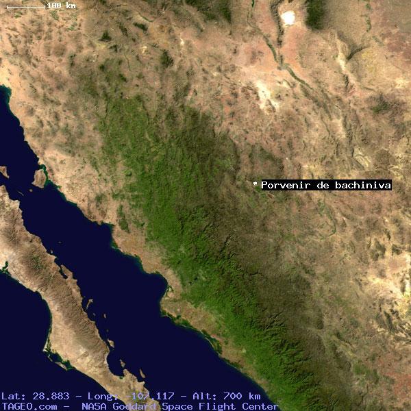 Porvenir De Bachiniva Chihuahua Mexico Geography Population Map