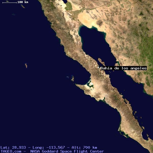 Bahia De Los Angeles Baja California Mexico Geography Population Map