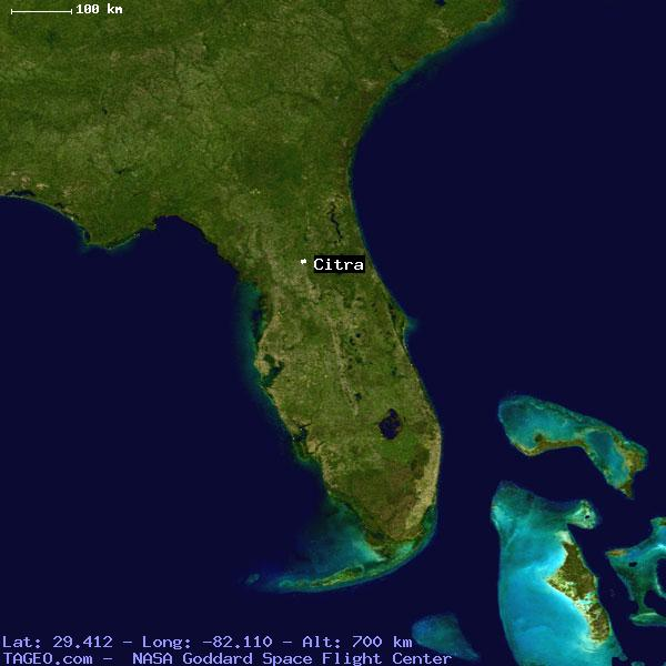 Citra Florida United States Geography Population Map Cities