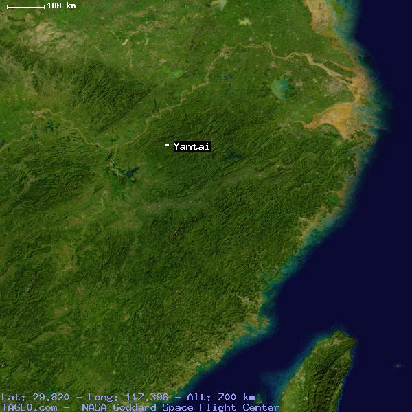 YANTAI JIANGXI CHINA Geography Population Map Cities Coordinates - Yantai map