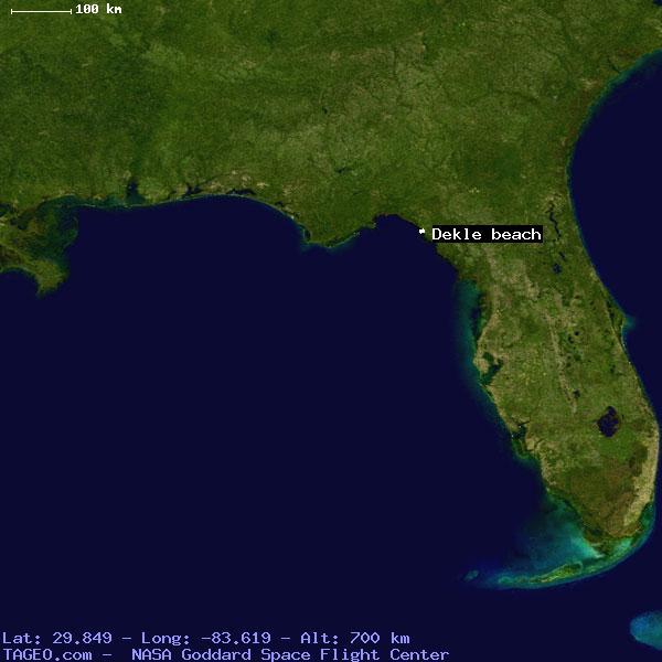 Where Is Dekle Beach Florida