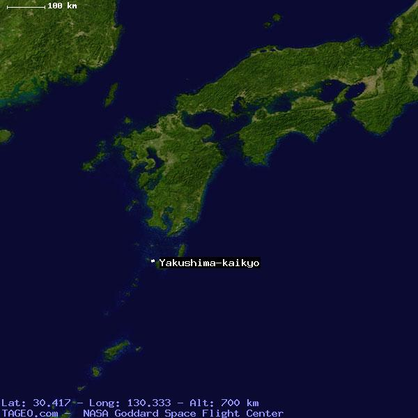YAKUSHIMAKAIKYO JAPAN GENERAL JAPAN Geography Population Map - Japan map yakushima