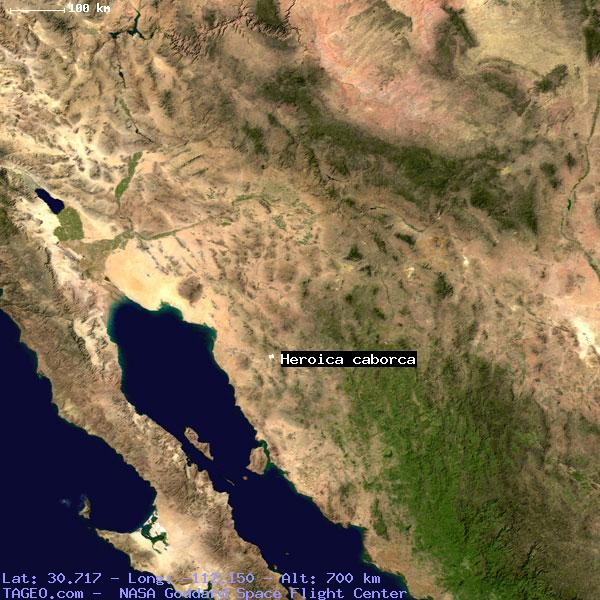 Heroica Caborca Sonora Mexico Geography Population Map Cities