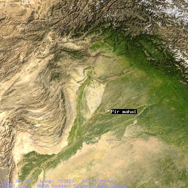 PIR MAHAL PUNJAB PAKISTAN Geography Population Map Cities - Pir mahal map