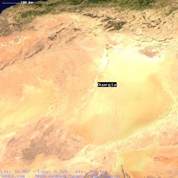 OUARGLA OUARGLA ALGERIA Geography Population Map Cities - Ouargla map