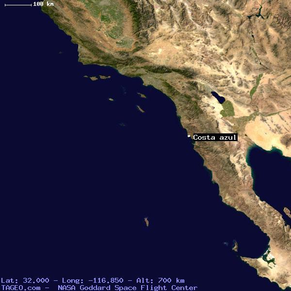 COSTA AZUL BAJA CALIFORNIA MEXICO Geography Population Map cities