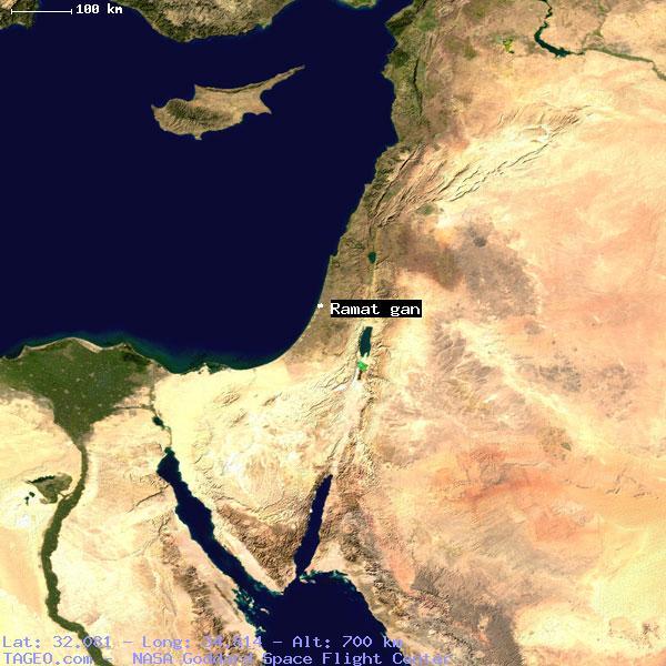 RAMAT GAN TEL AVIV ISRAEL Geography Population Map Cities - Ramat gan map