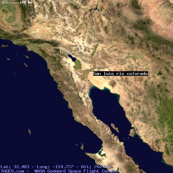 San Luis Rio Colorado Sonora Mexico Geography Population Map Cities