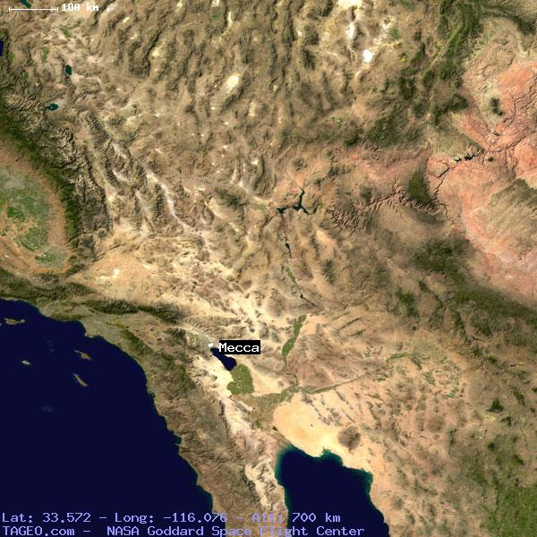 Mecca California United States Geography Population Map Cities