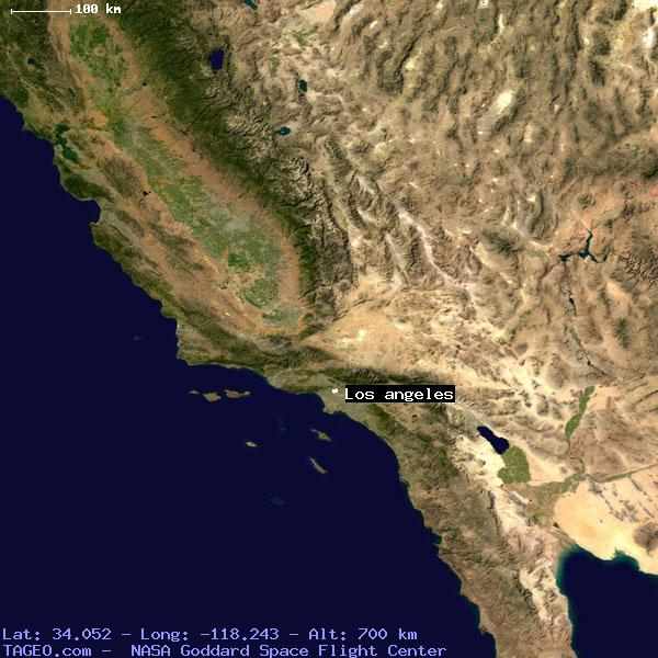 Los Angeles California United States Geography Population