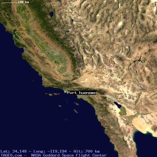 Port Hueneme California United States Geography Population Map