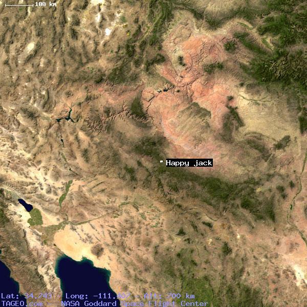 Happy Jack Arizona Map.Happy Jack Arizona United States Geography Population Map Cities