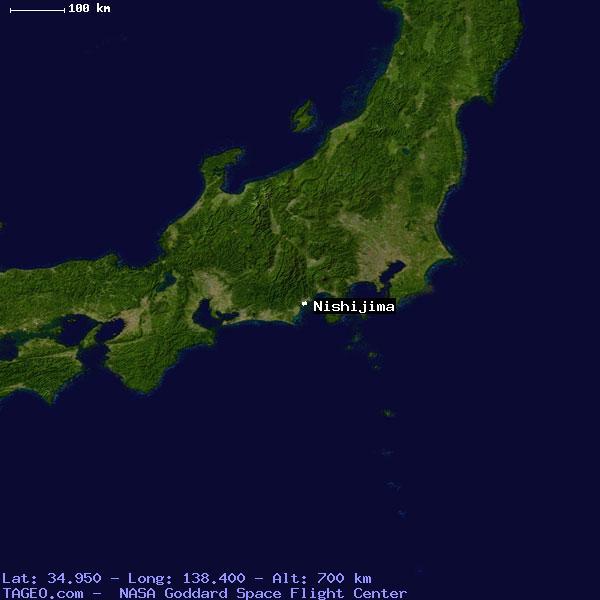 nishijima shizuoka japan geography population map cities coordinates