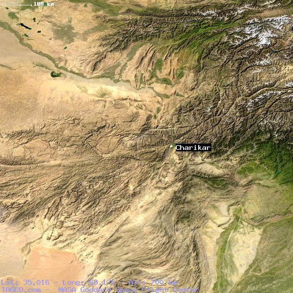 CHARIKAR PARVAN AFGHANISTAN Geography Population Map Cities - Charikar map