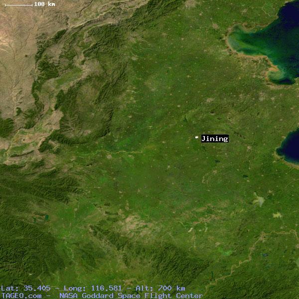 JINING SHANDONG CHINA Geography Population Map Cities Coordinates - Jining map