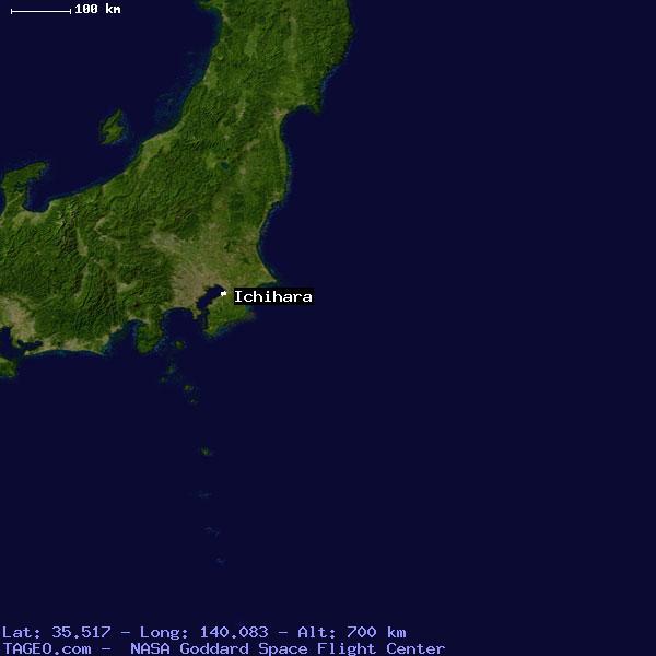 ICHIHARA CHIBA JAPAN Geography Population Map Cities Coordinates - Ichihara map