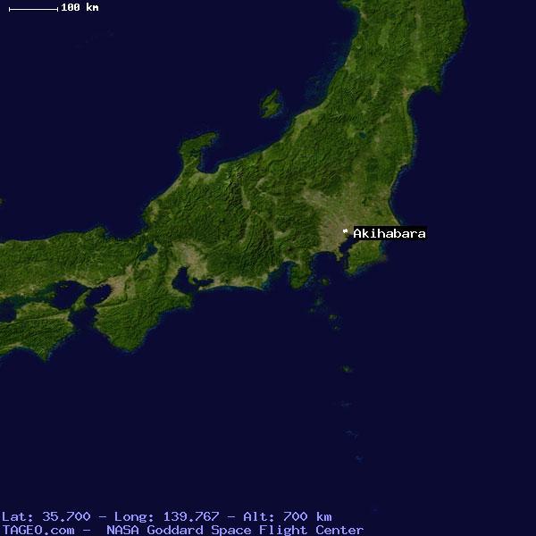AKIHABARA JAPAN (GENERAL) JAPAN Geography Population Map cities