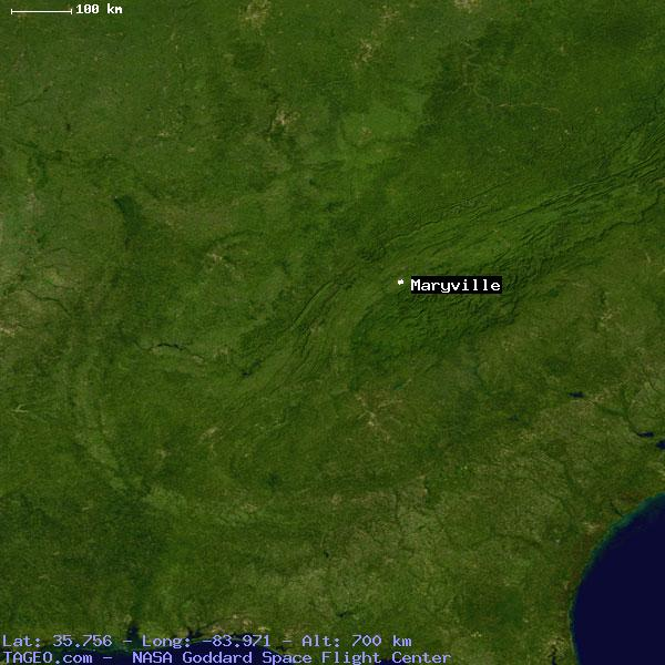 MARYVILLE TENNESSEE UNITED STATES Geography Population Map Cities - Where is maryville on the us map