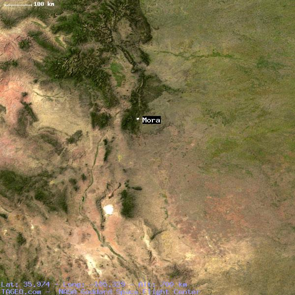 Mora New Mexico United States Geography Population Map Cities