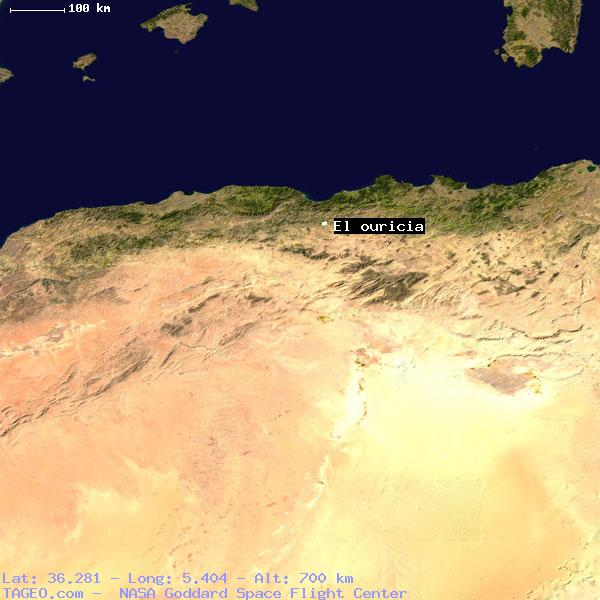 EL OURICIA SETIF ALGERIA Geography Population Map Cities - Setif map