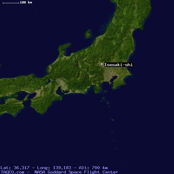 ISESAKISHI JAPAN GENERAL JAPAN Geography Population Map Cities - Isesaki map