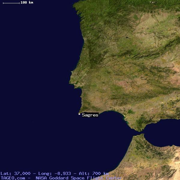 SAGRES FARO PORTUGAL Geography Population Map Cities Coordinates - Portugal map sagres
