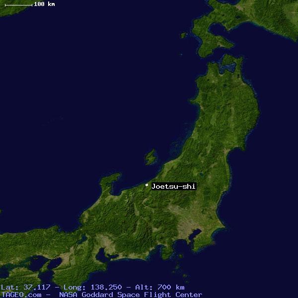 JOETSUSHI JAPAN GENERAL JAPAN Geography Population Map Cities - Joetsu map